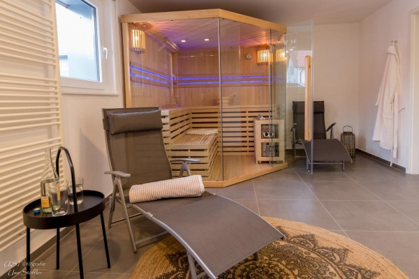 Die Sauna, in der ehemaligen Futterküche, als idealer Ort zum Entspannen!