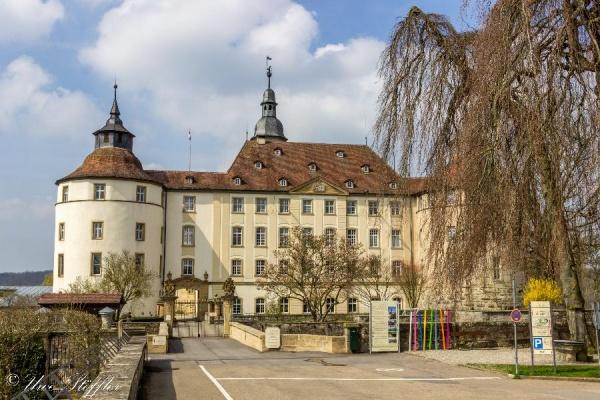 Blick auf das Schloss Langenburg