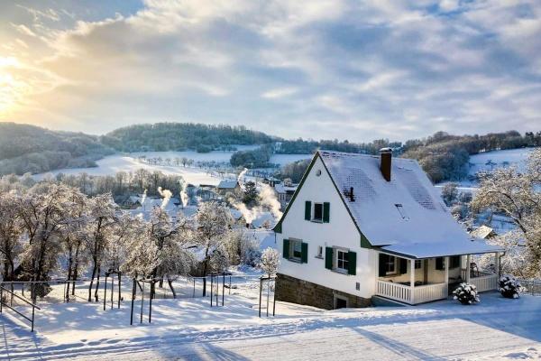 Das Ferienhaus im Winterkleid!